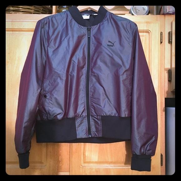 7d4f0409e891 PUMA iridescent bomber jacket- sz. XL. M 5ac8b51f9d20f0cf813ab525